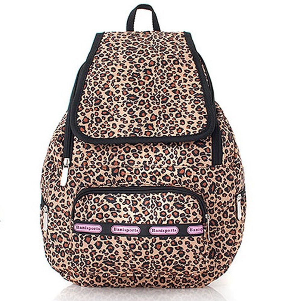 Violett &#8211; Backpack Cheetah Animal Print